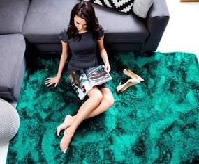 MAXMAX Detský plyšový koberec Ocean obdĺžnikový Dlhý vlas (SHAGGY) zelená