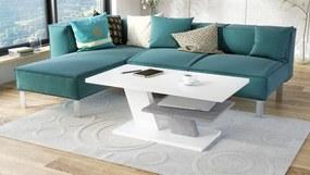 CLIFF biely / betón, konferenčný stolík