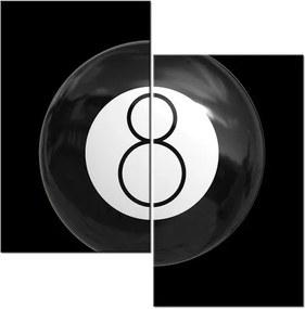 Tlačený obraz Čierna biliardová guľa 60x60cm 1742A_2A