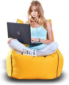 EMI Sedací vak stolička nylonová žltá 250 litrov