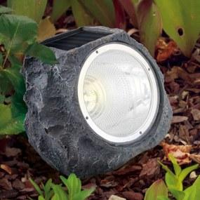 Dekoračná solárna LED lampa 90494 ako kameň