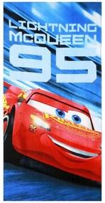 Setino · Bavlnená plážová osuška Autá - Cars - Blesk McQueen 95 - 70 x 140 cm