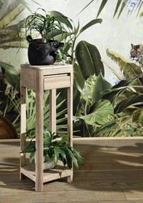 Bighome - MONTREAL Príručný stolík 30x30x90 cm, palisander