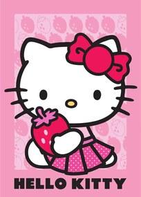 Vopi Detský koberec Hello Kitty jahoda ružový 95x133 cm