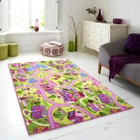 Associated Weavers koberce Dětský kusový koberec silnice Sweet Town - 100x140 cm