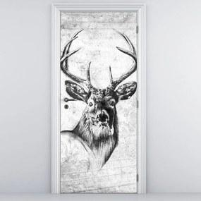 Fototapeta na dvere - jeleň (95x205cm)