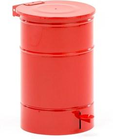Kovová nádoba na horľavý odpad Liston, 30 L, červená