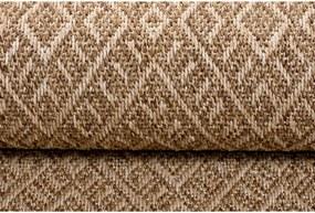 Kusový koberec Sisal béžový atyp, Velikosti 80x200cm