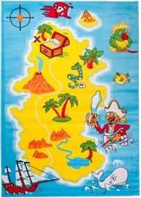 Detský kusový koberec ostrov modrý, Velikosti 160x220cm