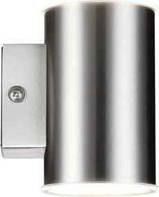 Polux LED Vonkajšie nástenné svietidlo NIVERO LED/10,5W IP44 matný chróm SA0549