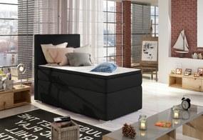 Čalúnená posteľ boxspring ROCCO, 90x200, sawana 14, levá