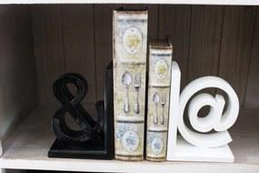 Biele a čierne zarážky na knihy 21cm 2-set