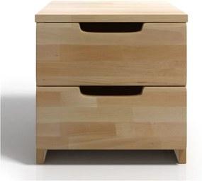 Nočný stolík z bukového dreva s 2 zásuvkami Skandica Spectrum