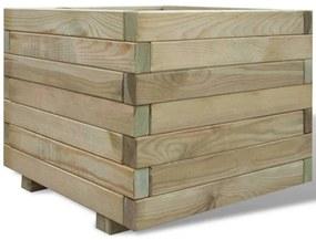 vidaXL Kvetináč 50x50x40 cm, FSC drevo, štvorcový