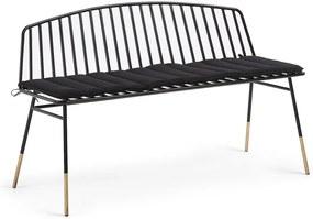 Čierna lavica La Forma Siena, dĺžka 120 cm