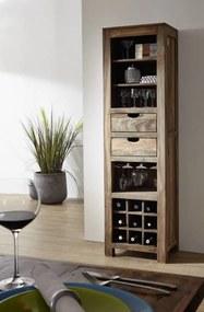 Bighome - GREY WOOD Regál na víno 180x50 cm, palisander