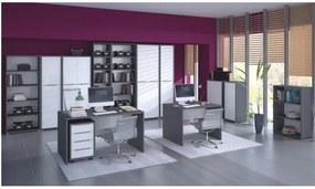 Psací stůl, grafit / bílá, RIOMA TYP 17 0000210496 Tempo Kondela