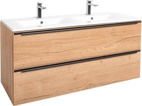 Kúpeľňová skrinka s umývadlom Naturel Nobia 120x60x46 cm dub Sierra NOBIA120ZDS