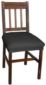 Multielastické poťahy CARLA šedé stoličky 2 ks 40 x 40 cm
