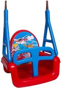 Tega Pilot detská hojdačka 3v1- červená