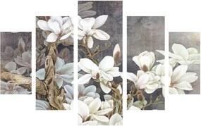 Viacdielny obraz White Blossom, 92 × 56 cm