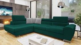 Luxusná sedacia súprava Cinnamon, zelená Velvet Roh: Orientace rohu Levý roh