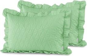 Sada 2 zelených obliečok na vankúš AmeliaHome Tilia Mint, 70 x 50 cm