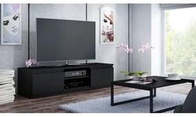 TV stolík LCD 120 cm čierny