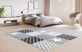 TA Detský koberec Lux šedý so vzorom Rozmer: 120x170