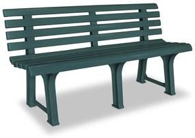 vidaXL Záhradná lavička 145,5 cm, plast, zelená