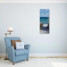 Nástěnné hodiny - The Way To The Beach 4 30x90 cm
