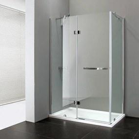 Aquatek EXTRA R23 CHRÓM Sprchovací kút, sklo 8 mm, 120 × 80 × 195 cm
