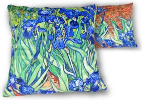 Vankúš  45x45cm Vincent van Gogh Irisy, CARMANI