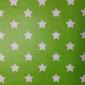 Samolepiace fólie hviezdičky zelený podklad, metráž, šírka 45cm, návin 15m, GEKKOFIX 13420, samolepiace tapety