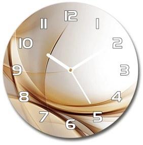 Sklenené hodiny na stenu Abstrakcie vlna pl_zso_30_f_79976073