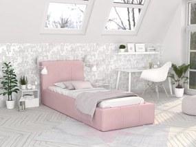 GM Detská čalúnená posteľ Fiona Farba: Ružová, Rozmer lôžka: 200x90