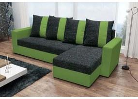 Rohová sedačka ANGELIKA, čierna + zelená