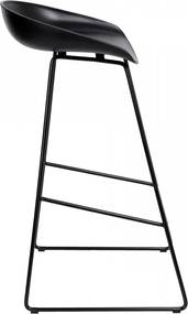 TZB Barová židle Hoker VISKAN černá