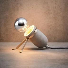 Butlers LUMOS Stolná lampa - šedá