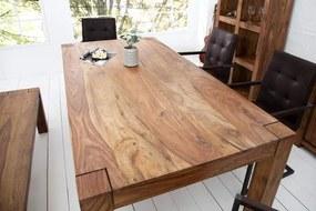 Drevený jedálenský stôl Makassar Sheesham 100 x 160 cm »