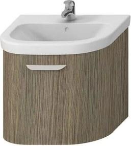 Kúpeľňová skrinka pod umývadlo Jika Deep 58x44x49,8 cm hnedá H4541334343411