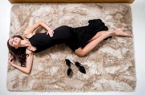 Plyšový koberec Vesardi SHOCK - cappucino (Zamatový koberec)