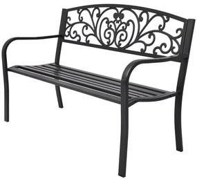 42168 vidaXL Záhradná lavica, čierne liate železo