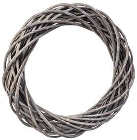 ČistéDrevo Prútený veniec šedý 38 cm