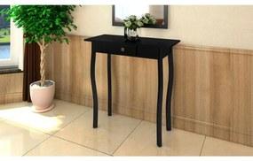 vidaXL Konzolový stolík, MDF, čierny