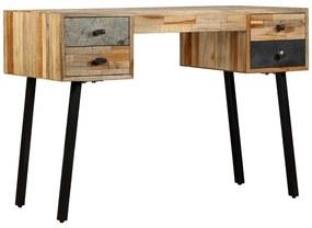 vidaXL Písací stôl z masívneho recyklovaného dreva, 110x50x76 cm