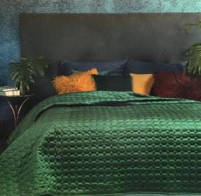 DomTextilu Jednofarebný prehoz zelenej farby s elegantným prešívaním Šírka: 220 cm | Dĺžka: 240 cm 27687-153320