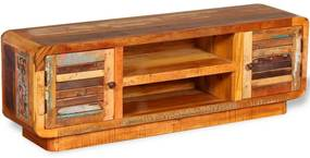 vidaXL TV stolík z masívneho recyklovaného dreva, 120x30x40 cm