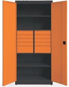 NABBI SN880/S1 skriňa na náradie grafit / oranžová