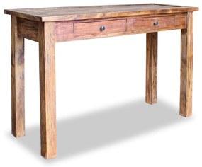 vidaXL Prístavný stolík z recyklovaného dreva, 123x42x75 cm
